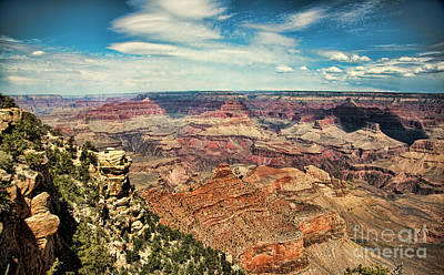 Photograph - Panoramic View Grand Canyon  by Chuck Kuhn