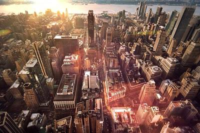 Panoramic View Of A Modern City Art Print by Ana Aguiar / Eyeem