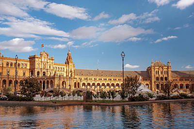 Photograph - Panoramic View Of Architectural Complex Of Plaza De Espana by Jenny Rainbow