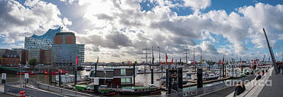 Photograph - Panoramic View Of Hamburg by Marina Usmanskaya