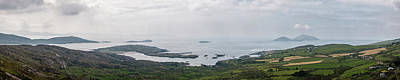Food And Flowers Still Life Rights Managed Images - Panoramic view of village of Bealtra and islands in Ireland Royalty-Free Image by Jon Ingall