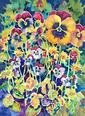 Painting - Pansies And Violas by Ann Nicholson
