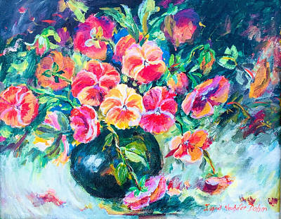 Painting - Pansies On Parade by Ingrid Dohm