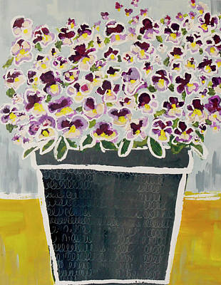 Wall Art - Painting - Pansy Pot by Kaley Alie