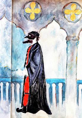 Photograph - Pantalone Mural In Venice by John Rizzuto