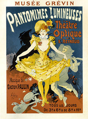 Painting -  Pantomimes Lumineuses Vintage French Advertising by Vintage French Advertising