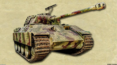 Photograph - Panzer V Panther Canvas by Weston Westmoreland