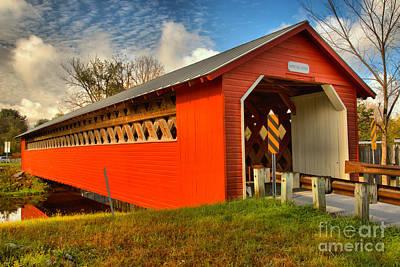Photograph - Paper Mill Village Bridge by Adam Jewell