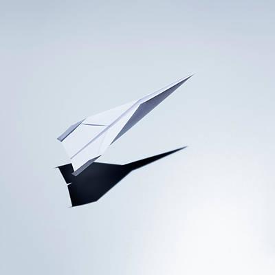 Paper Plane Taking Off Art Print by Jorg Greuel