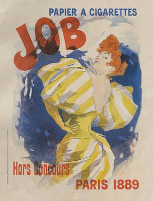 Painting - Papier A Cigarettes Job, Paris 1895 by Jules Cheret