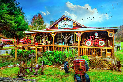 Photograph - Pappy's Country Store by Debra and Dave Vanderlaan