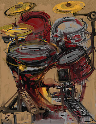 Music Mixed Media - Paradiddles by Russell Pierce