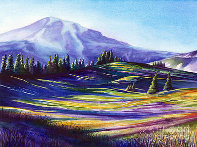 Painting - Paradise at Mount Rainier by Jacqueline Tribble