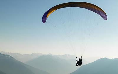 Photograph - Paragliding, British Columbia, Canada by Randy Lincks