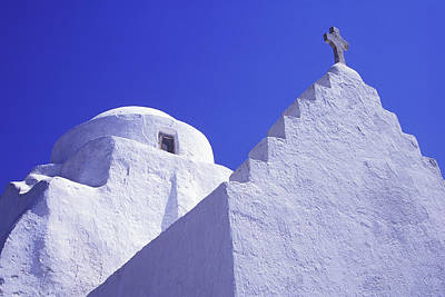 Mykonos Photograph - Paraportiani Church, Mykonos Town Hora by Garry Black