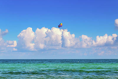 Photograph - Parasailing by Alison Frank