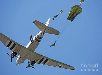 Photograph - Paratrooper Jump by Kevin McCarthy