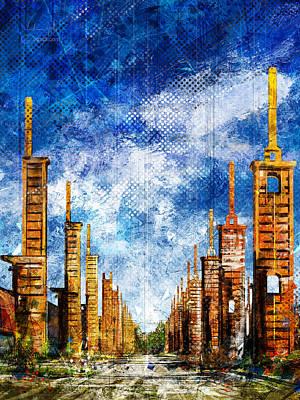 Surrealism Digital Art - Parco Dora by Andrea Gatti