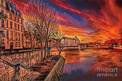 Painting - Paris A18-61 by Ray Shrewsberry
