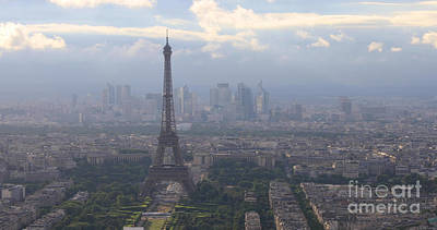 Photograph - Paris Aerial View by Benny Marty