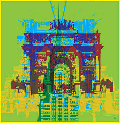 Digital Art - Paris And Nyc by Gary Grayson