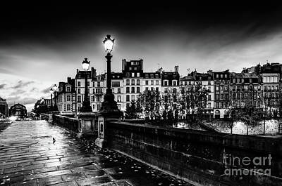 Paris At Night - Pont Neuf Art Print