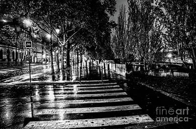 Photograph - Paris At Night - Quai Voltaire by Miles Whittingham