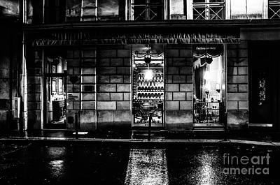 Paris At Night - Rue Bonaparte 2 Art Print