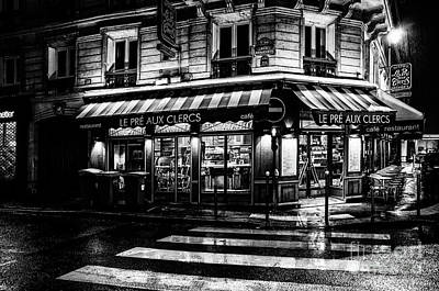 Paris At Night - Rue Bonaparte Art Print