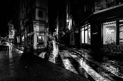 Paris At Night - Rue De Seine Art Print