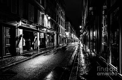 Paris At Night - Rue De Vernueuil Art Print