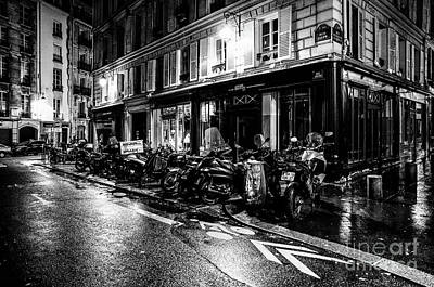Photograph - Paris At Night - Rue Jacob by Miles Whittingham