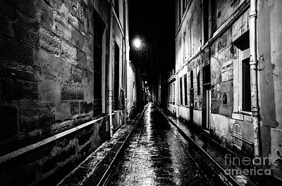 Photograph - Paris At Night - Rue Visconti by Miles Whittingham