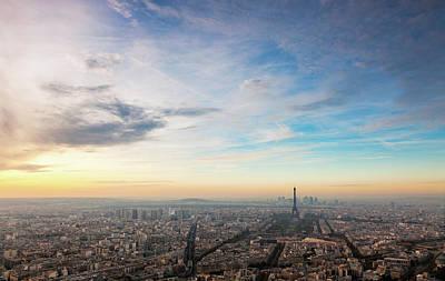 Paris Atmosphere Art Print by John And Tina Reid