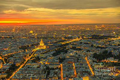 Photograph - Paris Invalids Palace Sunset by Benny Marty