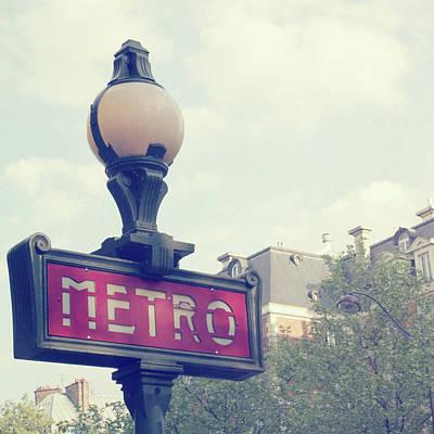 Photograph - Paris Metro by Liz Rusby