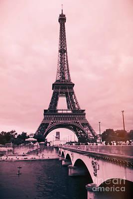 Photograph - Paris Pink Eiffel Tower by Carol Groenen
