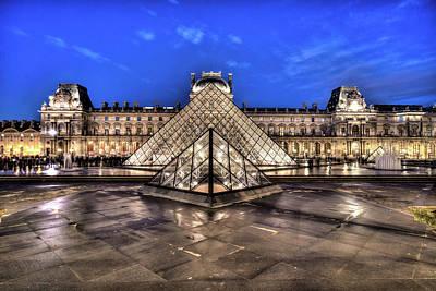 Photograph - Paris Pyramid by Ian Robert Knight