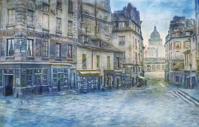 Painting - Paris, Rue Du Haut Pave 1866 by Vincent Monozlay