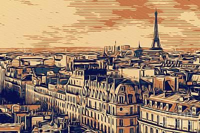 Paris Skyline Rights Managed Images - Paris Skyline, France Royalty-Free Image by Sarah Kirk