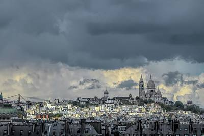 Paris Skyline Royalty-Free and Rights-Managed Images - Paris Skyline with Sacre Coeur by David Smith