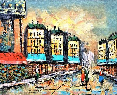 Jolly Old Saint Nick - Paris street scene  by Roberto Prusso
