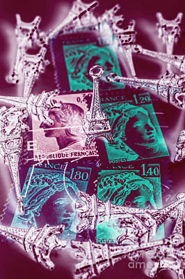 Pop Art Royalty-Free and Rights-Managed Images - Parisian postmarks by Jorgo Photography - Wall Art Gallery