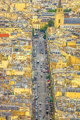 Photograph - Parisian Street Skyline by Benny Marty