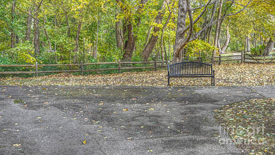 Photograph - Park Bench @ Sharon Woods by Jeremy Lankford