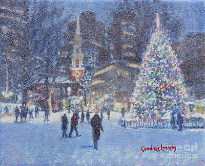 Painting - Park Street Christmas by Candace Lovely