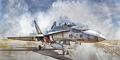 Digital Art - Parked Hornet by Brad Allen Fine Art