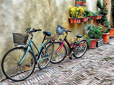 Photograph - Parked Together Pienza by Dorothy Berry-Lound