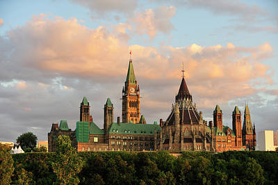 Parliament Building In Ottawa, Onratio Art Print