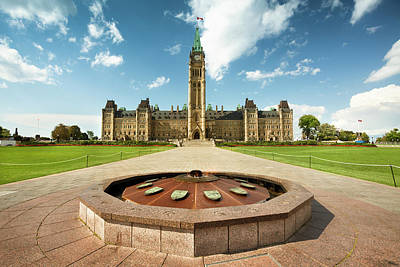 Parliament Hill In Ottawa Art Print